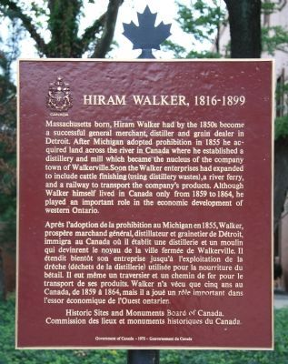 Hiram Walker Marker image. Click for full size.