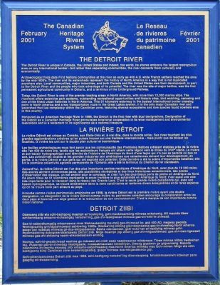 The Detroit River Marker image. Click for full size.