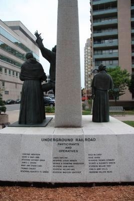 The Underground Railroad in Canada Memorial image. Click for full size.