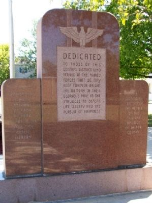 Webb City Veterans Memorial [front] image. Click for full size.