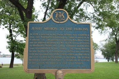 Jesuit Mission to the Hurons Marker image. Click for full size.