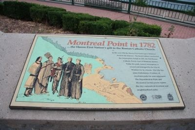 Montreal Point in 1782 Marker image. Click for full size.