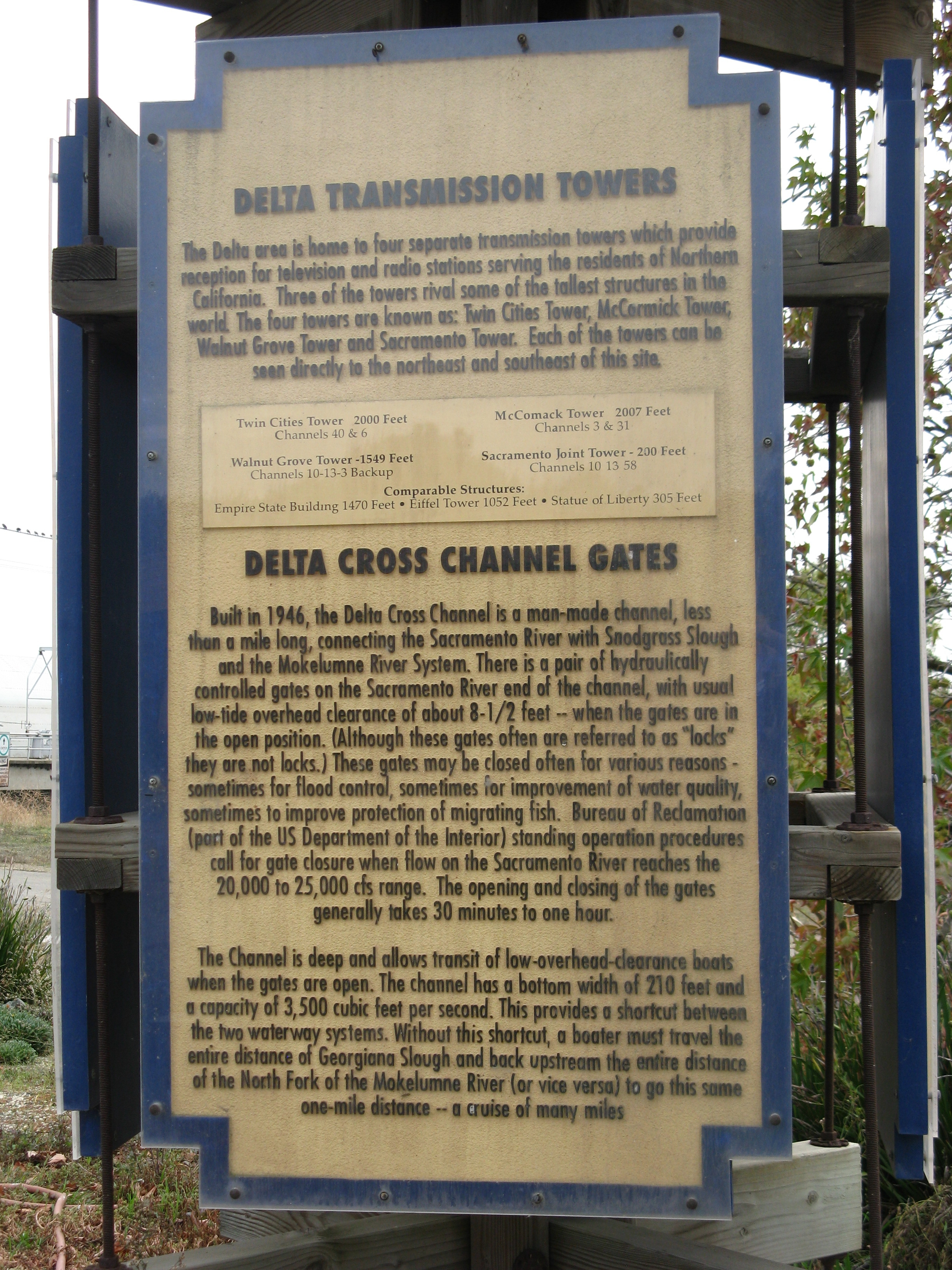 Delta Transmission Towers/Delta Cross Channel Gates Marker