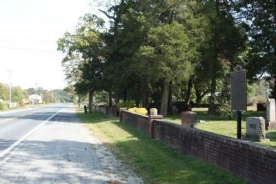 Blackwater Presbyterian Church Marker, looking east along County Road 54, Omar Road image. Click for full size.