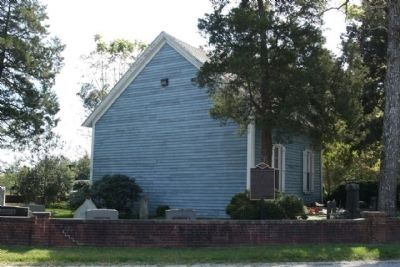 Rear view, Blackwater Presbyterian Church and Marker image. Click for full size.