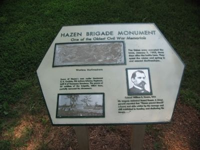 Hazen Brigade Monument Marker image. Click for full size.