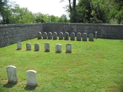 Headstones Around the Monument image. Click for full size.