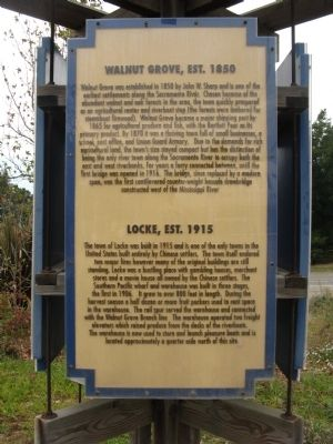 Walnut Grove, Est. 1850/Locke, Est. 1915 Marker image. Click for full size.