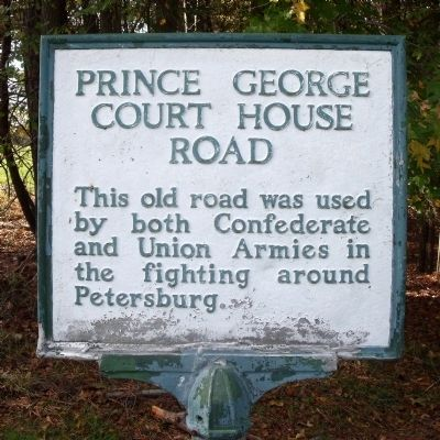 Prince George Court House Road Marker image. Click for full size.