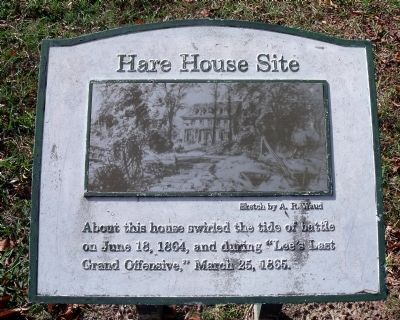 Hare House Site Marker image. Click for full size.