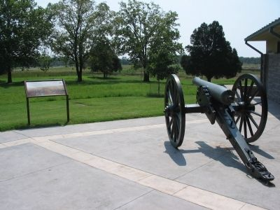 Marker and Cannon Overlooking the Battlefield image. Click for full size.
