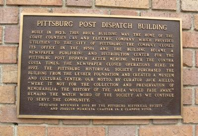 Pittsburg Post Dispatch Building Marker image. Click for full size.