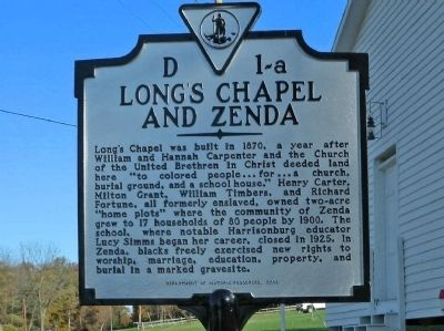 Long's Chapel and Zenda Marker image. Click for full size.