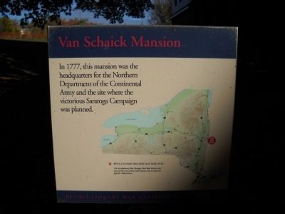 Van Schaick Mansion Marker image. Click for full size.