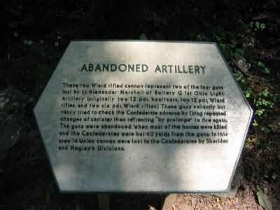 Abandoned Artillery Marker image. Click for full size.