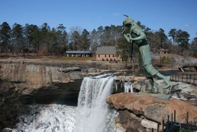 Princess Noccalula Statue and the Noccalula Falls image. Click for full size.