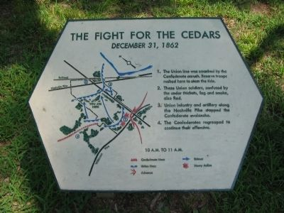 The Fight for the Cedars Marker image. Click for full size.