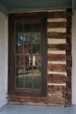 Original log walls of the Reed House. image. Click for full size.