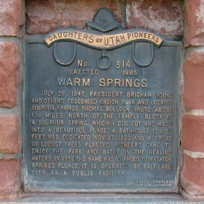 Warm Springs Marker image. Click for full size.