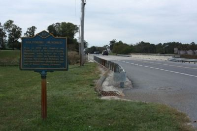 Baltimore Hundred Marker, looking west along Vines Creek Road , State Road 26 image. Click for full size.