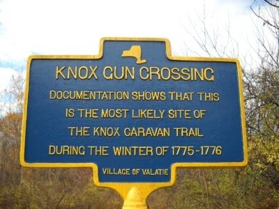 Knox Gun Crossing Marker image. Click for full size.
