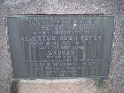 This stone marks the site of Peter Hill image. Click for full size.