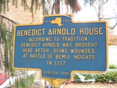 Benedict Arnold House Marker image. Click for full size.