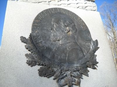 Relief Image of Maj. Gen. John Sedgwick from Monument image. Click for full size.