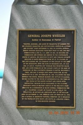 General Joseph Wheeler Marker image. Click for full size.