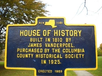 House of History Marker image. Click for full size.