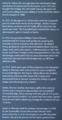 Campbell&#39;s Covered Bridge:<br>A Tribute to Stella (1921-2004) Marker image. Click for full size.