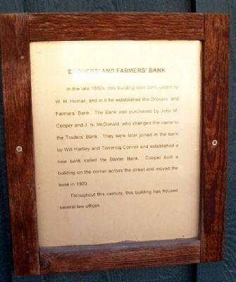 Drovers' and Farmers' Bank Marker image. Click for full size.