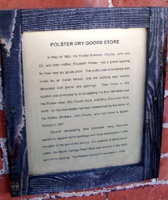 Polster Dry Goods Store Marker image. Click for full size.