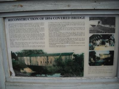 Reconstruction of 1854 Covered Bridge Marker image. Click for full size.