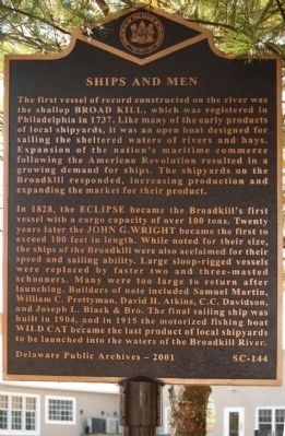 Ships and Men Marker image. Click for full size.