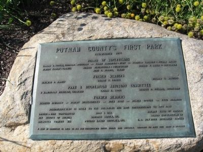 Putnam County's First Park Marker image. Click for full size.