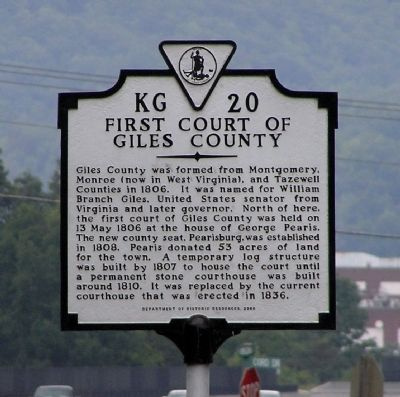 First Court of Giles County Marker image. Click for full size.