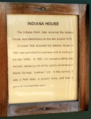 Indiana House Marker image. Click for full size.