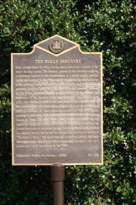 The Holly Industry Marker image. Click for full size.
