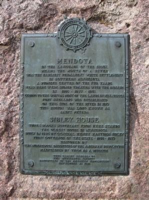 Mendota / Sibley House Marker image. Click for full size.