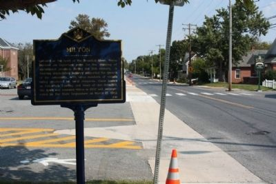 Milton Marker, looking back north along Federal Street image. Click for full size.