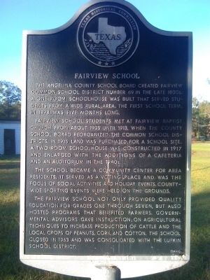 Fairview School Marker image. Click for full size.
