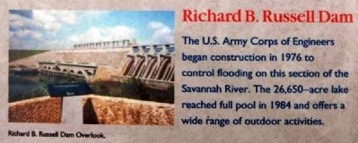 Abbeville County Marker -<br>Richard B. Russell Dam image. Click for full size.