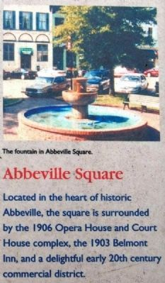 Abbeville County Marker -<br>Abbeville Square image. Click for full size.