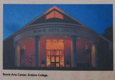 Bowie Arts Center, Erskine College image. Click for full size.