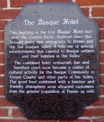 The Basque Hotel Marker image. Click for full size.