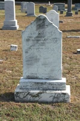 Headstone for Ann Johnson, as mentioned on marker image. Click for full size.