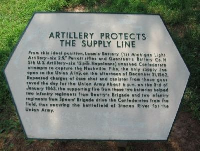Artillery Protects the Supply Line Marker image. Click for full size.