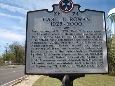 Carl T. Rowan Marker image. Click for full size.