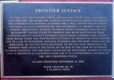 Frontier Justice Marker image. Click for full size.